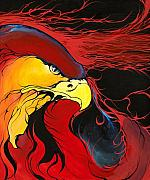 Eagle Paintings - Sacred Eagle by Dallas Poundmaker