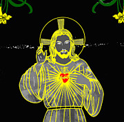 Sacred Heart Print by Al Bourassa