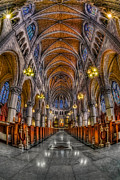 Clergy Photo Metal Prints - Sacred Heart Basilica Metal Print by Susan Candelario