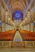 Christian Sacred Metal Prints - Sacred Heart Cathedral Basilica Metal Print by Susan Candelario