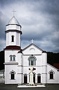 Overcast Art - Sacred Heart Church in Placentia Newfoundland by Elena Elisseeva