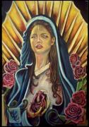 Virgin Mary Paintings - Sacred Heart by Michael Espinosa