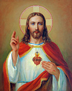 Resurrection Prints - Sacred Heart Print by Svitozar Nenyuk