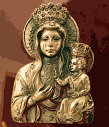 Blessed Mother Photos - Sacred Icon by Patricia Januszkiewicz
