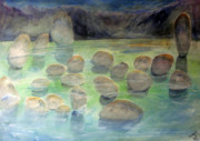 Sacred Art Paintings - Sacred Pool by John Scholey