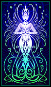 Feminine Digital Art Framed Prints - Sacred State Framed Print by Cristina McAllister