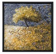 Nature Tapestries - Textiles Tapestries - Textiles - Sacred Tree 1 by Lorraine Roy