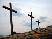 Crosses Photo Prints - Sacrifice Print by Joy Tudor