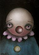 Griffith Framed Prints - Sad Clown Framed Print by  Abril Andrade Griffith