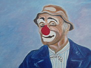 Circus. Paintings - Sad Clown by Arlene Gibbs