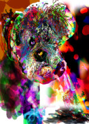 Miniature Schnauzer Puppy Digital Art - Sad Dog by James Thomas