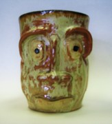 Light Ceramics - Sad Eyes Mug. by Steven Keel