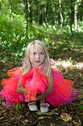 Child Ballerina. Photos - Sad little girl in fairy costume in a forest by Gordana Sermek