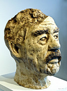 Fired Sculptures - Saddam by Gregory John