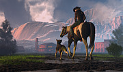 Cowboy Digital Art - Saddle Tale by Dieter Carlton
