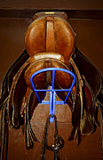 Ranch Photo Prints - Saddles Print by Elena Elisseeva