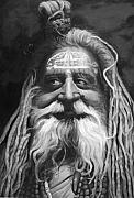 Fine Art - People Prints - Sadhu  Print by Enzie Shahmiri