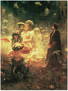 Victorian Era Framed Prints - Sadko Framed Print by Ilya Repin