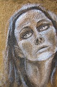 Portrait Mixed Media Originals - Sadness by Iglika Milcheva-Godfrey