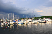 Boats At Dock Prints - Safe Harbor Print by Christine Stonebridge