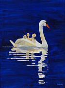 Waterfowl Paintings - Safe Harbor by Rodney Campbell