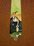 Frogs Tapestries - Textiles Posters - Safe in the Garage Poster by David Kelly