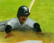 Baseball Paintings - Safe by Jorge Delara
