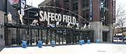 Seattle Mariners Framed Prints - Safeco Field Framed Print by Cameron Minaglia