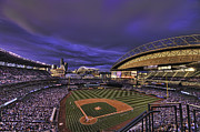 Diamond Metal Prints - Safeco Field Metal Print by Dan McManus
