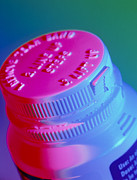 Bottle Cap Photo Posters - Safety Cap On A Medicine Bottle Poster by Steve Horrell
