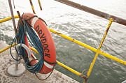 Tilted Posters - Safety Equipment on Dry dock Poster by Shannon Fagan