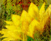 Manipulated Photography Posters - Saffron Dream Poster by Ann Powell