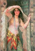 Necklaces Framed Prints - Safie Framed Print by William Clark Wontner