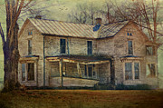 Old House Photographs Metal Prints - Saggy Porch Metal Print by Kathy Jennings