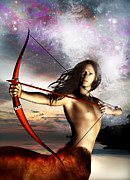 Archer Prints - Sagittarius Print by Julie L Hoddinott