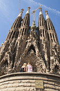 Human Being Posters - Sagrada Familia church - Barcelona Spain Poster by Matthias Hauser