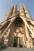Catalunya Metal Prints - Sagrada Familia church in Barcelona Antoni Gaudi Metal Print by Matthias Hauser
