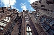 Sagrada Familia In Barcelona Print by Design Remix