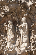 Art Of Building Prints - Sagrada Familia Nativity Facade Detail Print by Matthias Hauser