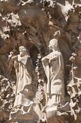 Sagrada Familia Nativity Facade Detail Print by Matthias Hauser