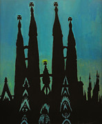 La Sagrada Familia Paintings - Sagrada Shadows by Mark Lopez
