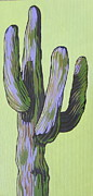 Saguaro Framed Prints - Saguaro 5 Framed Print by Sandy Tracey