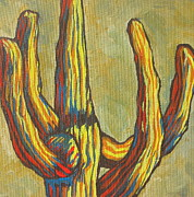 Desert Art - Saguaro 7 by Sandy Tracey