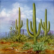 Summer Celeste Art - Saguaro Scene 1 by Summer Celeste
