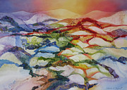 Deb Ronglien Watercolor Prints - Sahara Print by Deborah Ronglien