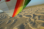 Rippled Sand Posters - Sahara Desert seen from hang glider Poster by Sami Sarkis