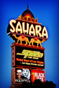 The Strip Photo Framed Prints - Sahara Sign Framed Print by James Marvin Phelps