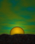 Haze Digital Art Prints - Sahara Sunrise Print by Tommy Charles