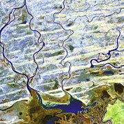 Inland Photos - Saharan Desert Rivers, Satellite Image by Nasa