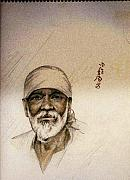 Baba Paintings - Sai Baba by Aloke Lal